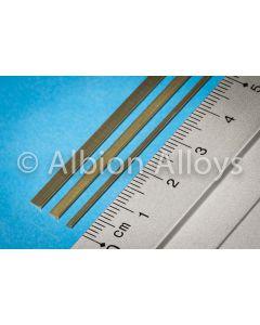 Metallprofiler, albion-alloys-l3-brass-l-channel-3-x-1-mm, ALBL3