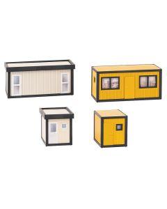 Industri (Faller), faller-130136-4-baucontainer-schwarz-gelb-grau-schwarz-scale-h0, FAL130136