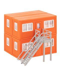 Industri (Faller), faller-130135-4-baucontainer-orange-scale-ho, FAL130135