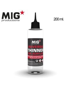 Mig Akrylmaling, mig-productions-p263-universal-thinner-for-acrylics-200-ml, MPR263