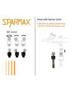 Airbrush, sparmax-41113101-airbrush-hose-with-swivel-joint, SPM41113101