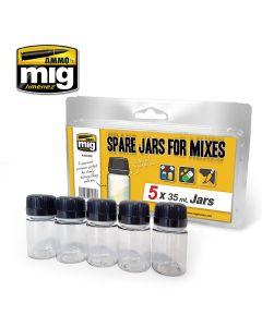 Mig, ammo-by-mig-jimenez-mig8033-spare-jars-for-mixes-5-pcs-35-ml, MIG8033