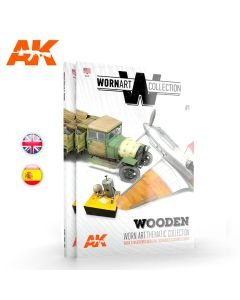 Bøker, ak-interactive-ak-4901-wornart-collection-1-wooden-english-book, AKI4901