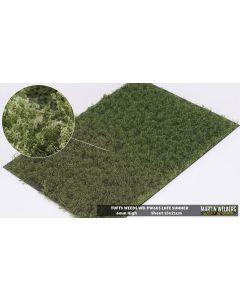 Statisk Gress, Gresstuster m/ Ugress, 6 mm, Sen Sommer, 21 x 15 Cm, MWB-PW603