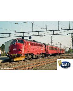Topline Lokomotiver, nmj-topline-90040-nsb-di3-nohab-631-dcc, NMJT90040
