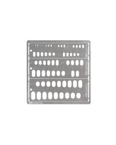 Verktøy, tamiya-74154-modeling-template-rounded-rectangles-1-6-mm, TAM74154