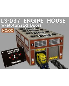 Diverse Byggesett, Proses-ls-037-engine-house-kit-with-motorized-doors-and-lights, PROLS-037