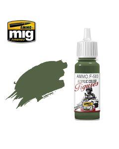 Mig Akrylmaling, ammo-by-mig-jimenez-f-503-dark-olive-green-fs-34130-acrylic-figure-miniature-paint-17-ml, MIGF503