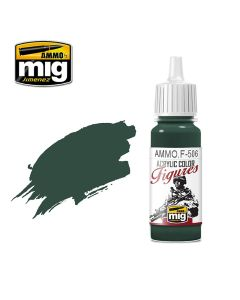 Mig Akrylmaling, ammo-by-mig-jimenez-f-506-medium-russian-green-fs-34092-acrylic-figure-miniature-paint-17-ml, MIGF506