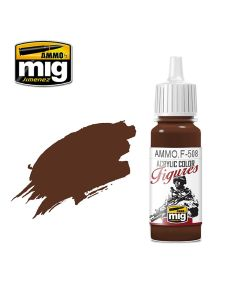 Mig Akrylmaling, ammo-by-mig-jimenez-f-508-brown-base-fs-30108-acrylic-figure-miniature-paint-17-ml, MIGF508