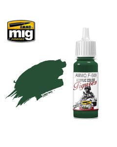 Mig Akrylmaling, ammo-by-mig-jimenez-f-509-uniform-green-base-fs-34128-acrylic-figure-miniature-paint-17-ml, MIGF509