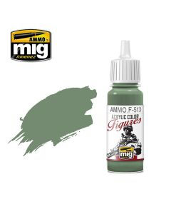 Mig Akrylmaling, ammo-by-mig-jimenez-f-513-field-grey-highlight-fs-34414-acrylic-figure-miniature-paint-17-ml, MIGF513