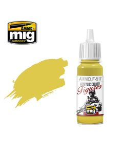 Mig Akrylmaling, ammo-by-mig-jimenez-f-517-pale-gold-yellow-acrylic-figure-miniature-paint-17-ml, MIGF517