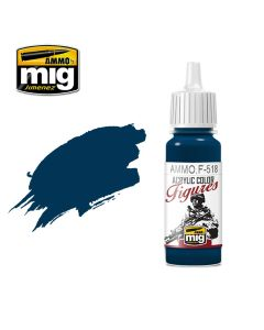Mig Akrylmaling, ammo-by-mig-jimenez-f-518-marine-blue-acrylic-figure-miniature-paint-17-ml, MIGF518