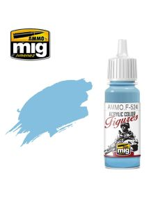 Mig Akrylmaling, ammo-by-mig-jimenez-f-524-light-sky-blue-acrylic-figure-miniature-paint-17-ml, MIGF524