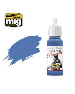 Mig Akrylmaling, ammo-by-mig-jimenez-f-525-medium-blue-acrylic-figure-miniature-paint-17-ml, MIGF525