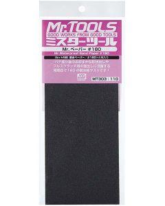 Verktøy, mr-hobby-mt-303-mr-waterproof-sand-paper-180-4-sheets, MRHMT-303