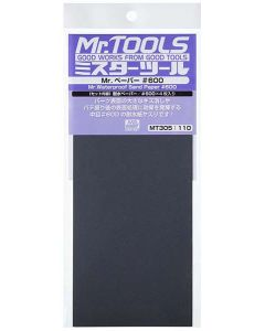 Verktøy, mr-hobby-mt-305-mr-waterproof-sand-paper-600-4-sheets, MRHMT-305