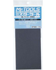 Verktøy, mr-hobby-mt-306-mr-waterproof-sand-paper-800-4-sheets, MRHMT-306