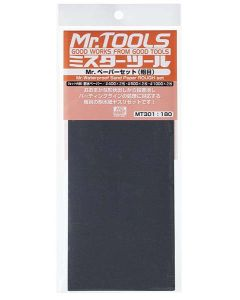 Verktøy, mr-hobby-mt-301-mr-waterproof-sand-paper-set-rough-400-600-1000, MRHMT-301