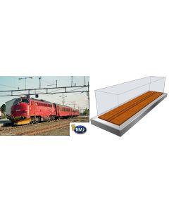 Topline Lokomotiver, nmj-topline-90040-nmje89903-nsb-di3-nohab-631-dcc-display-case, NMJT90040