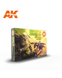 AK Interaktive, ak-interactive-ak11600-orcs-and-green-models-set-with-6-paints-17-ml-third-generation-acrylics, 11600