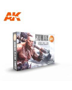 AK Interaktive, ak-interactive-ak11603-human-flesh-tones-set-with-6-paints-17-ml-third-generation-acrylics, 11603