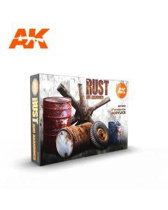AK Interaktive, ak-interactive-ak11605-rust-and-abandoned-set-with-6-paints-17-ml-third-generation-acrylics, 11605