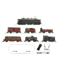 Startsett, roco-51323-edition-z21-deluxe-starter-set-electric-locomotive-with-sound-drg-e-52-6-freight-cars-wifi-phone-android-ios-app-h0, ROC51323