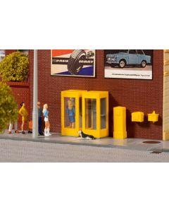 Tilbehør (Auhagen), auhagen-41662-telefonkoisker-postkasser, AUH41662