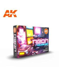 AK Interaktive, ak-interactive-ak11610-neon-colors-set-with-6-paints-17-ml-third-generation-acrylics, 11610