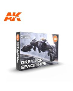 AK Interaktive, ak-interactive-ak11614-grey-for-space-ship-colors-set-with-6-paints-17-ml-third-generation-acrylics, 11614