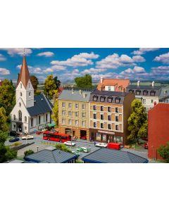 Bolighus og bygårder (Faller), 2 Bygårder med butikker, N-Skala, FAL232384