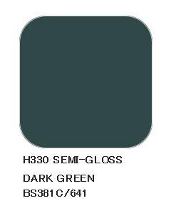 Mr. Hobby, mr-hobby-h-330-dark-green-bs381c-641-10-ml-aqueous-hobby-color, MRHH330