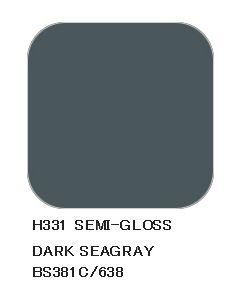 Mr. Hobby, mr-hobby-h-331-dark-seagray-bs381c-638-10-ml-aqueous-hobby-color, MRHH331