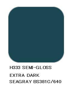Mr. Hobby, mr-hobby-h-333-extra-dark-seagray-bs381c-640-10-ml-aqueous-hobby-color, MRHH333