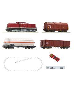 Startsett, roco-51321-z21-start-digitalt-startsett-dr-br-114-diesellok-3-godsvogner-skinneoval-dcc-digital, ROC51321