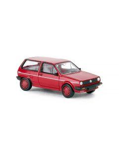 Personbiler, Volkswagen Polo II Fox, Rød, PCX870000