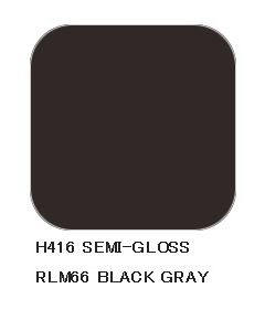 Mr. Hobby, Black Gray RLM66, 10 ml, Aqueous Hobby Color, MRHH416