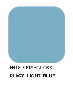 Mr. Hobby, Light Blue RLM78, 10 ml, Aqueous Hobby Color, MRHH418