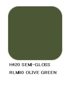 Mr. Hobby, Olive Green RLM80, 10 ml, Aqueous Hobby Color, MRHH420