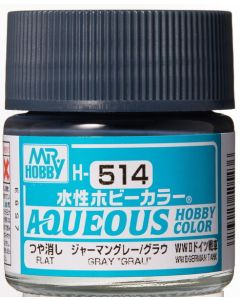 "Mr. Hobby, Gray ""Grau"", 10 ml, Aqueous Hobby Color, MRHH514"