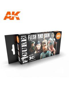 AK Interaktive, Flesh And Skin 3G, Paint sett, 11621