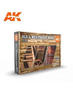 AK Interaktive, Old & Weathered Wood 3G, Paint sett, 11673