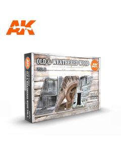 AK Interaktive, Old & Weathered Wood Vol II 3G, Paint sett, 11674