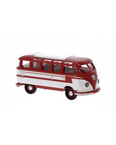Personbiler, Volkswagen T1b Samba, Rød/Grå, BRE31843