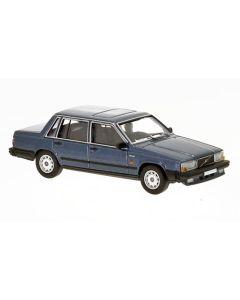 Personbiler, Volvo 740 Sedan, Mørkeblå Metallic, PCX870109