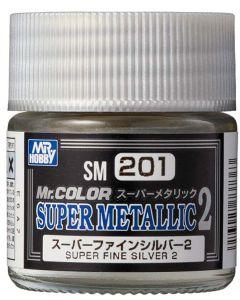 Mr. Hobby, mr-hobby-sm-201-super-fine-silver-2-mr-color-super-metallic-colors-2-10-ml, MRHSM201