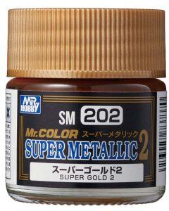 Mr. Hobby, mr-hobby-sm-202-super-gold-2-mr-color-super-metallic-colors-2-10-ml, MRHSM202