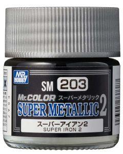 Mr. Hobby, mr-hobby-sm-203-super-iron-2-mr-color-super-metallic-colors-2-10-ml, MRHSM203